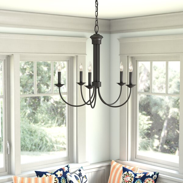 Andover Mills Newby 5 Light Candle Style Linear Chandelier Reviews Wayfair