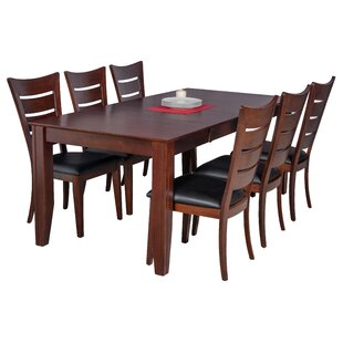 Avangeline 7 Piece Espresso Dining Set by Gracie Oaks