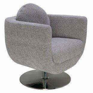 Simone Swivel Barrel Chair by Nuevo