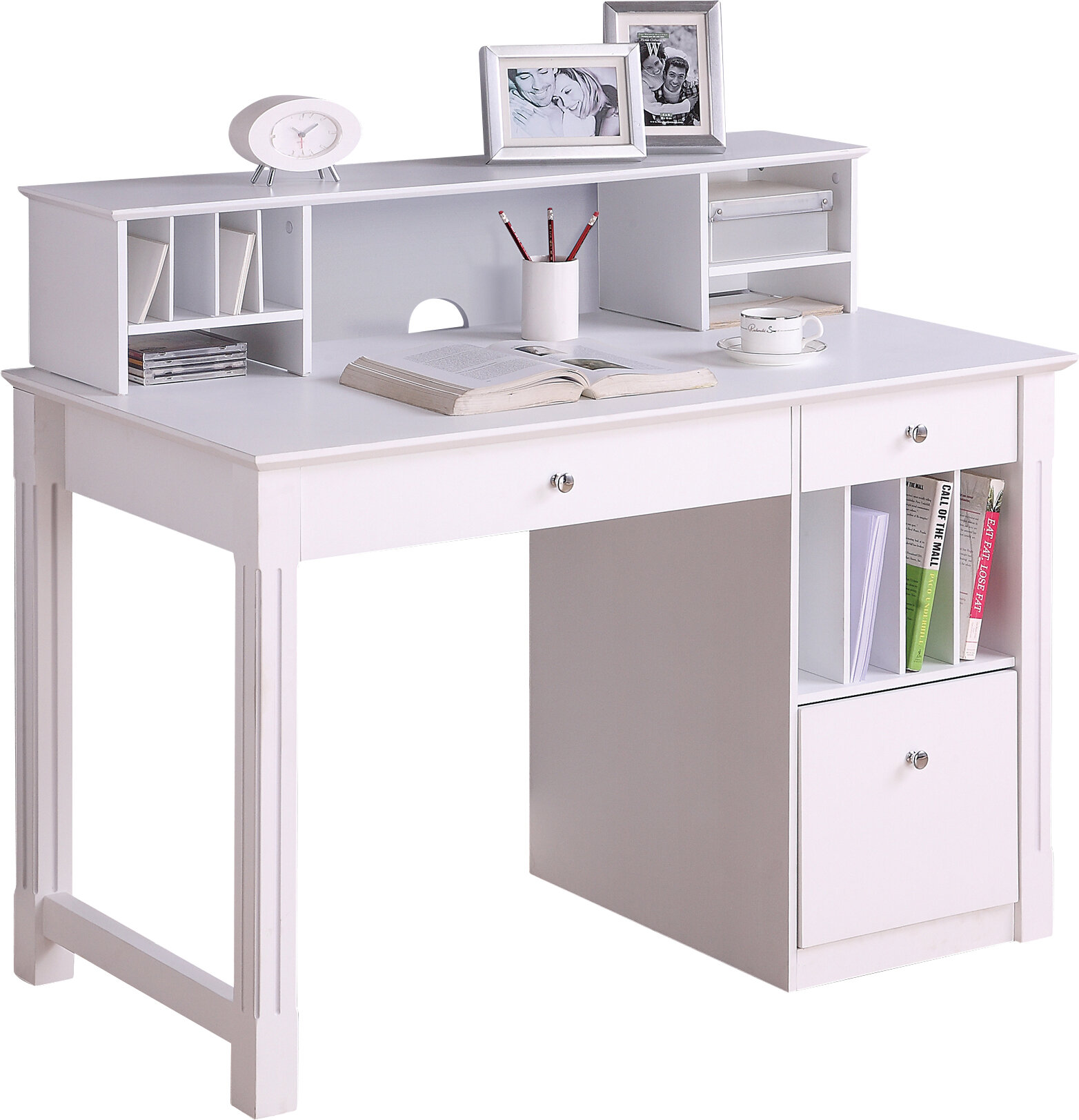 - Beachcrest Home Weldon Computer Desk With Hutch & Reviews Wayfair