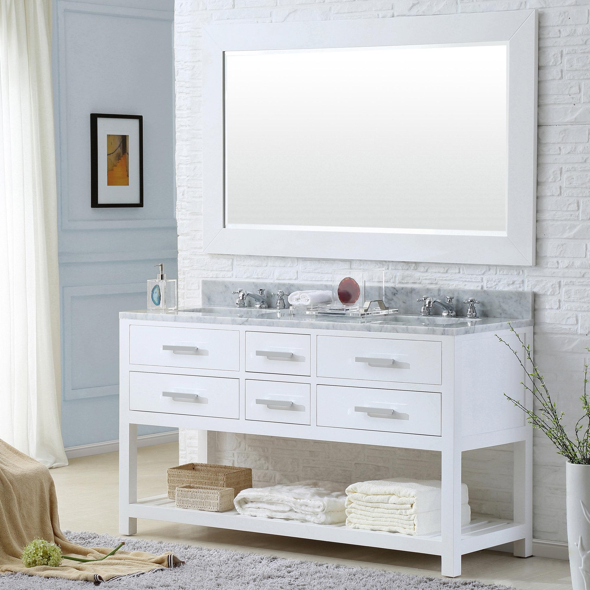 Contemporary Office Interior Design, Perego 60 Double Sink Bathroom Vanity Set With Mirror Allmodern