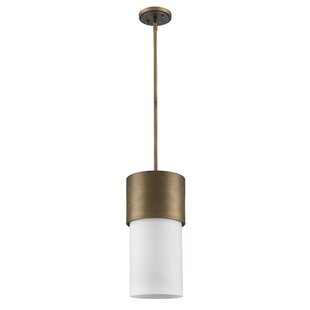 Mckellar 1-Light Cylinder Pendant by Ebern Designs