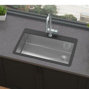 Crosstown 33 L x 21 W Drop-In Kitchen Sink by Elkay