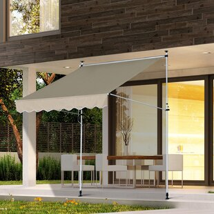 Sonakshi 150 W X 300m D Retractable Patio Awning By Sol 72 Outdoor
