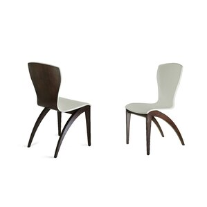 Sinfonia Side Chair in Eco Leather - Light Grey by YumanMod