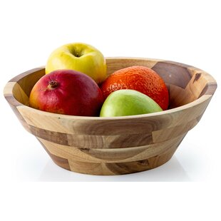 Crags Rubberwood 4.5-qt. Fruit Bowl