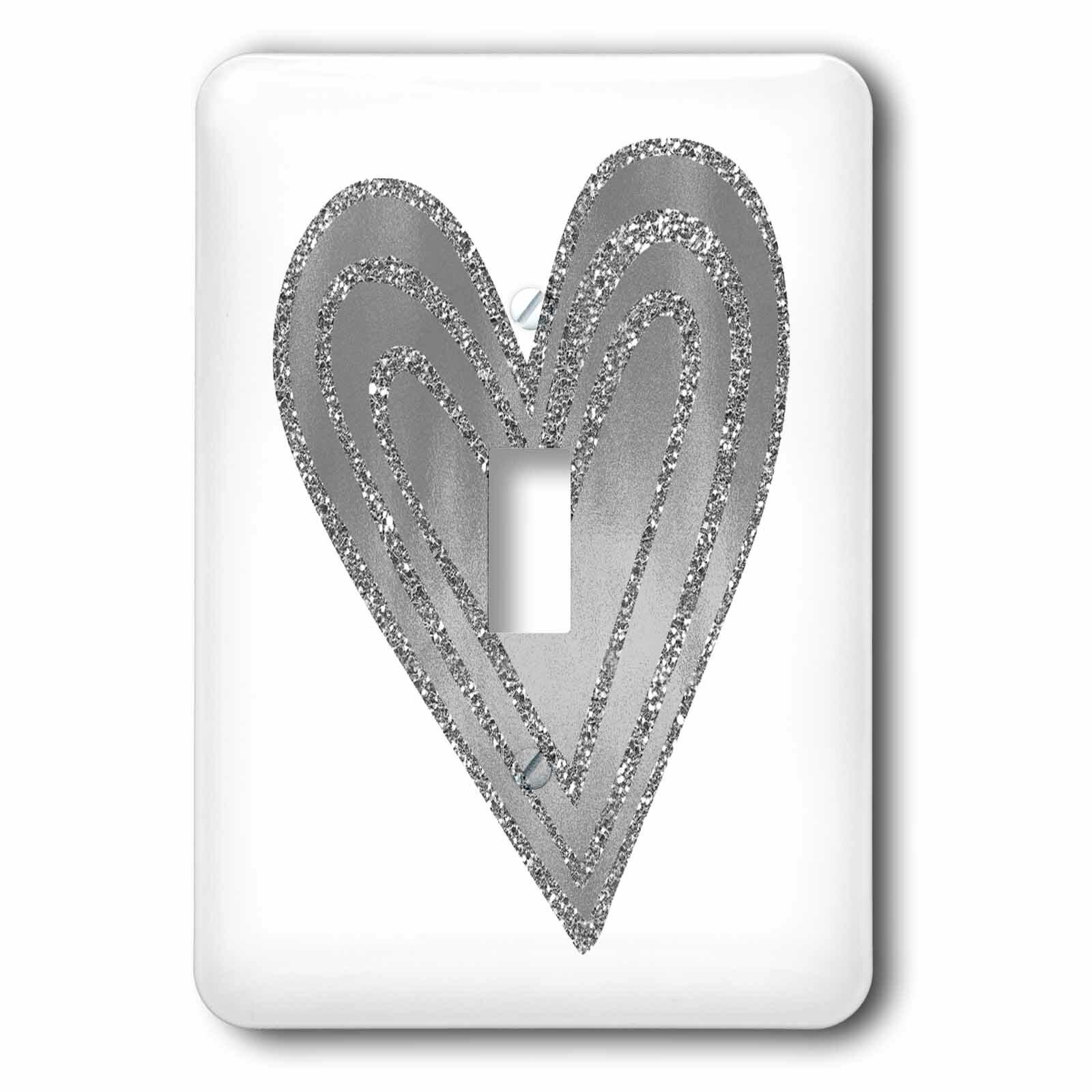 3drose Glam Heart 1 Gang Toggle Light Switch Wall Plate Wayfair