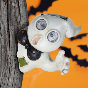 Solar Ghost Tree Hugger Wall Decor
