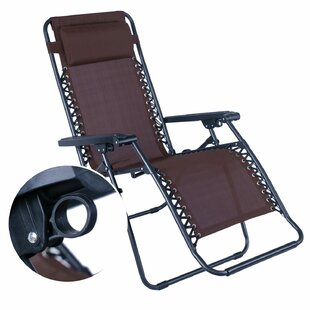Latitude Run Swint Reclining Folding Zero Gravity Chair with Cushion