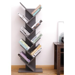 Ato 9-Shelf Tree Magazine CD Geometric Bookcase by Latitude Run Best