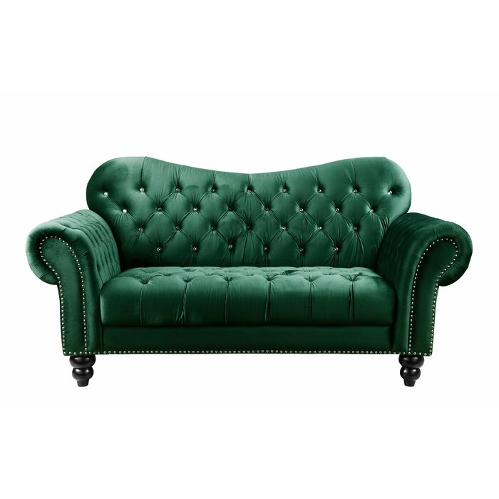 Strange Knox Button Tufted Chesterfield Loveseat Onthecornerstone Fun Painted Chair Ideas Images Onthecornerstoneorg