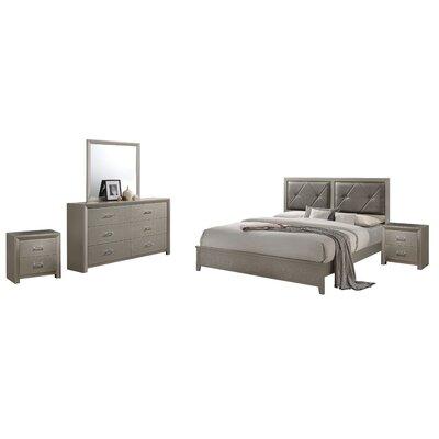 Mercer41 Easterling Standard 5 Piece Bedroom Set