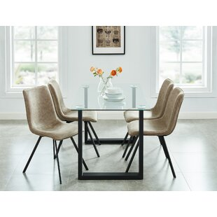 Dina Contemporary 5 Piece Dining Set Wrought Studio