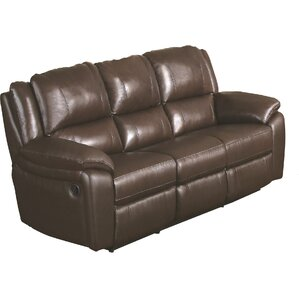 Hickox Leather Reclining Sofa by Darby Home Co