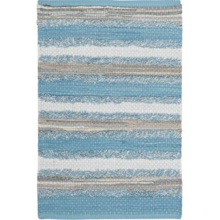 Bargain Monaca Hand-Woven Aqua/Gray Area Rug By Gracie Oaks