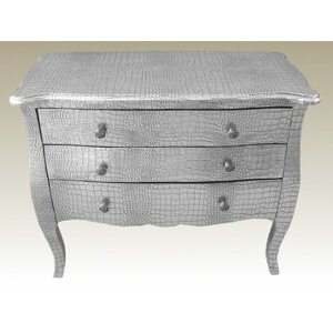 Nachttisch Lounge Lizard Furniture mit 3 Schubla..