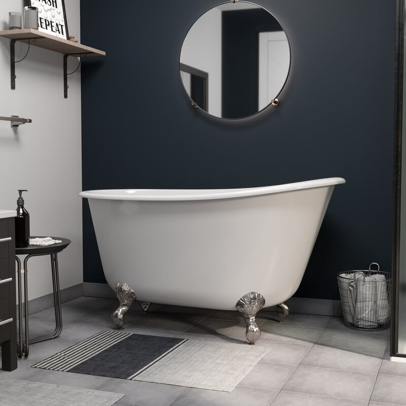 Cambridge Plumbing Cast Iron Swedish Tub Clawfoot Bathtub