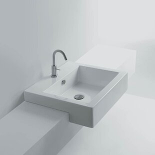 Compare & Buy Quad Ceramic Ceramic Rectangular Vessel Bathroom Sink with Overflow ByWS Bath Collections
