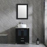Dezlyn 24 Single Bathroom Vanity Set with Mirror by Latitude Run