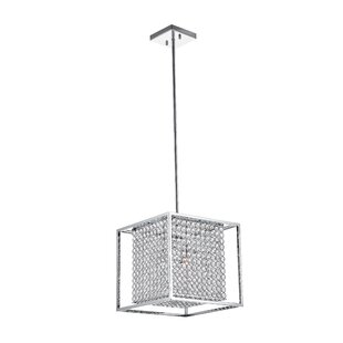 Cube 3-Light Square/Rectangle Pendant by CWI Lighting
