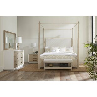 Boca Grande Upholstered King Canopy Configurable Bedroom Set