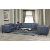 Pranzal 3 Piece Leather Living Room Set by 17 Stories