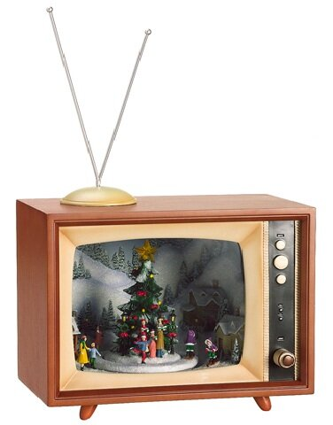Tori Home Amusements Lighted Retro Musical TV Set with Animated ...