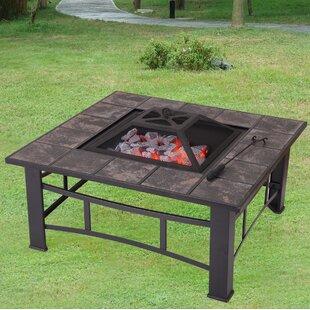 Adeco Trading Sheet Steel Wood Burning Fi..