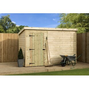 9 Ft. W X 7 Ft. D Shiplap Pent Wooden Shed By WFX Utility