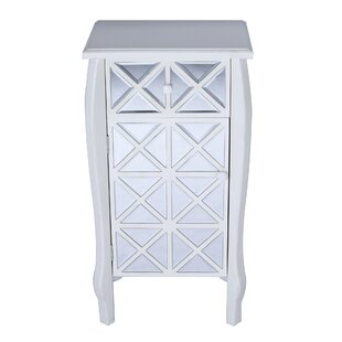 Rosdorf Park Spears Mirrored 1 Drawer Accent Cabinet
