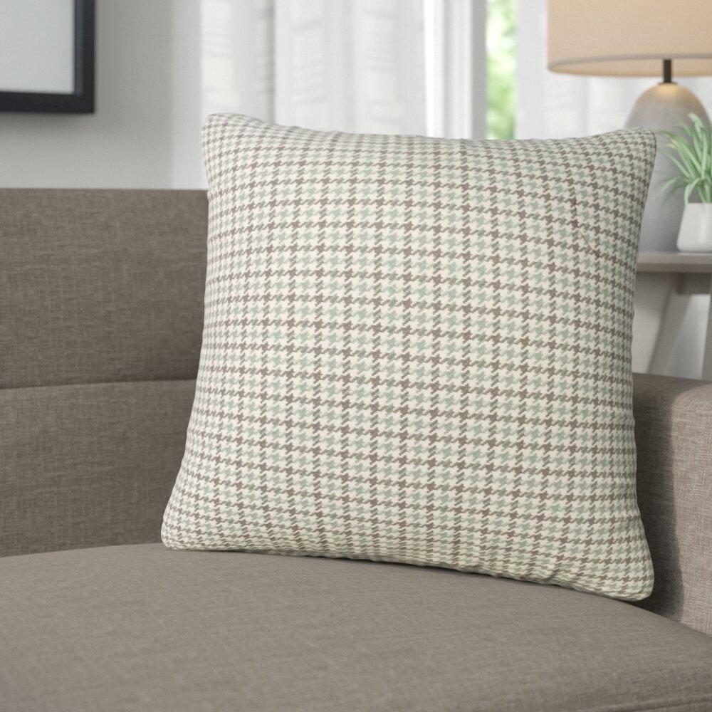 Corrigan Studio Remi Houndstooth Cotton Throw Pillow | Wayfair