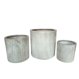 Hilger Eclectic 3 Piece Ceramic Pot Planter Set