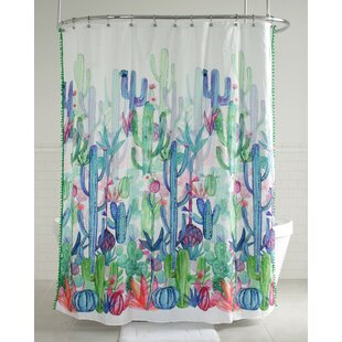 Anniston Cactus Fabric Single Shower Curtain
