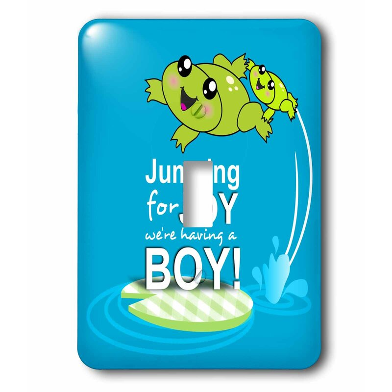 3drose Jumping For Joy Having A Boy Cute Frog Baby Shower Its A Boy Kawaii Frogs Announcement 1 Gang Toggle Light Switch Wall Plate Wayfair