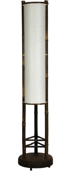 "oriental furniture japanese koru shoji 39"" floor lamp & reviews"