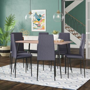 Streeter Scandinavian Style Exotic 7 Pieces Dining Set by Wrought Studio