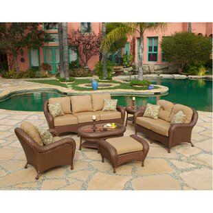 Soria 6 Piece Rattan Sunbrella Seating Group with Cushions