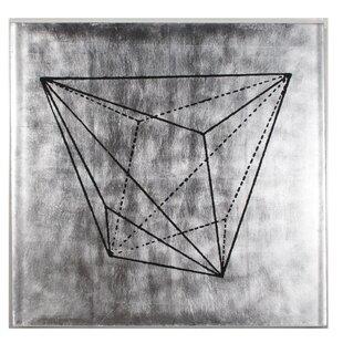 'Krystalle Panel II' Framed Graphic Art Print on Wood by Trent Austin Design