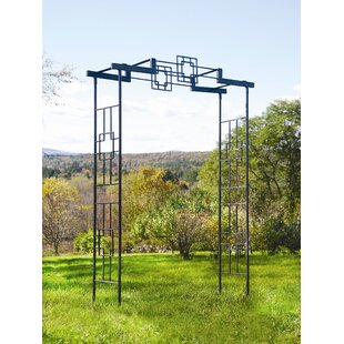 ACHLA Square-on-Squares Iron Arbor
