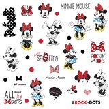Minnie Rocks the Dots Peel and Stick Wall Decal by Room Mates