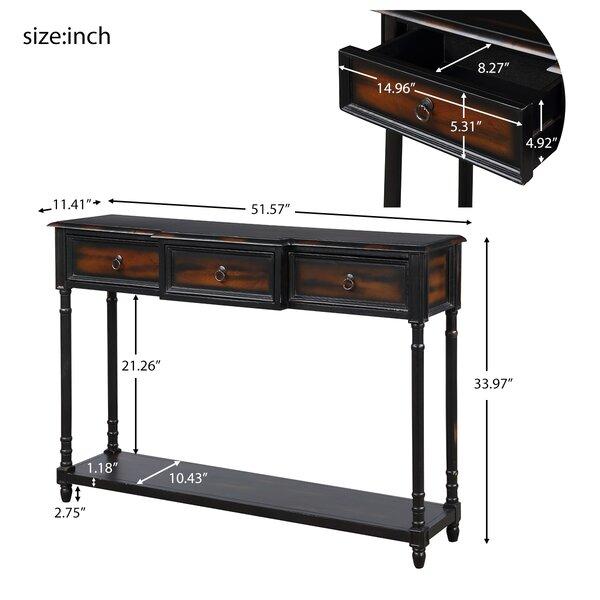 Rosalind Wheeler Frederica 51 57 Solid Wood Console Table Wayfair