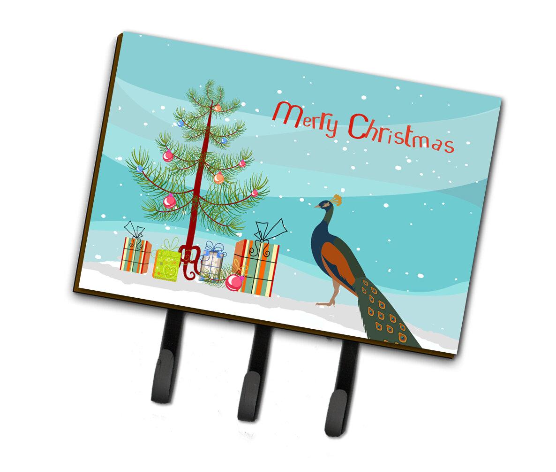 East Urban Home Carrboro Indian Peacock Peafowl Christmas Wall Key Organizer With Key Hooks Wayfair