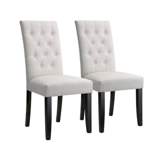 House of Hampton Bott Modern High Back Button Tufted Upholstered Dining Chair (Set of 2)