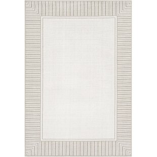 Reviews Oliver Taupe Indoor/Outdoor Area Rug By Bay Isle Home