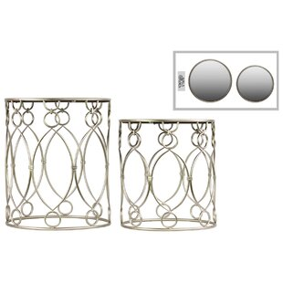 Metal Round 2 Piece Nesting Tables by Urban Trends