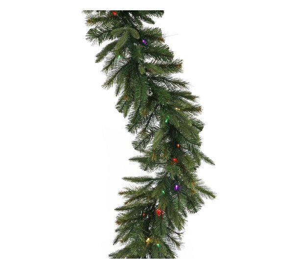vickerman battery operated cashmere pine christmas garland wayfair - Battery Operated Christmas Garland