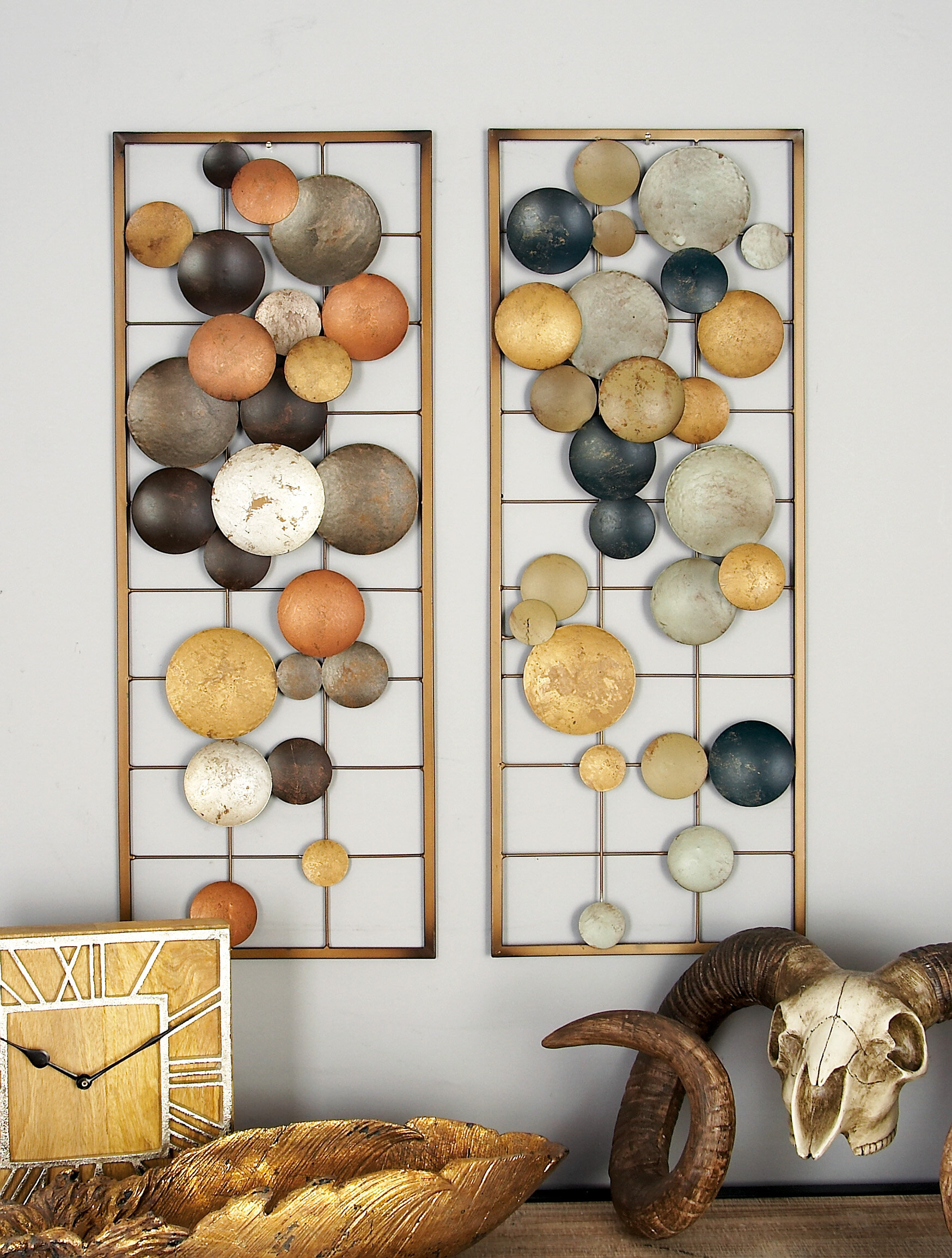 George Oliver 2 Piece Metal Wall Decor Set Reviews
