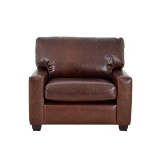 Kenmore Studio Genuine Top Grain Leather Club Chair by Westland and Birch