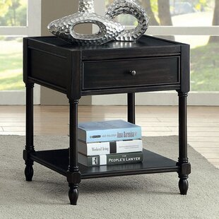 Highland Dunes Frederika End Table with Storage