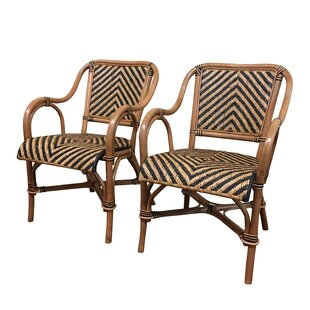 Safari Arm Chair (Set Of 2) by ElanaMar Designs 2019 Sale